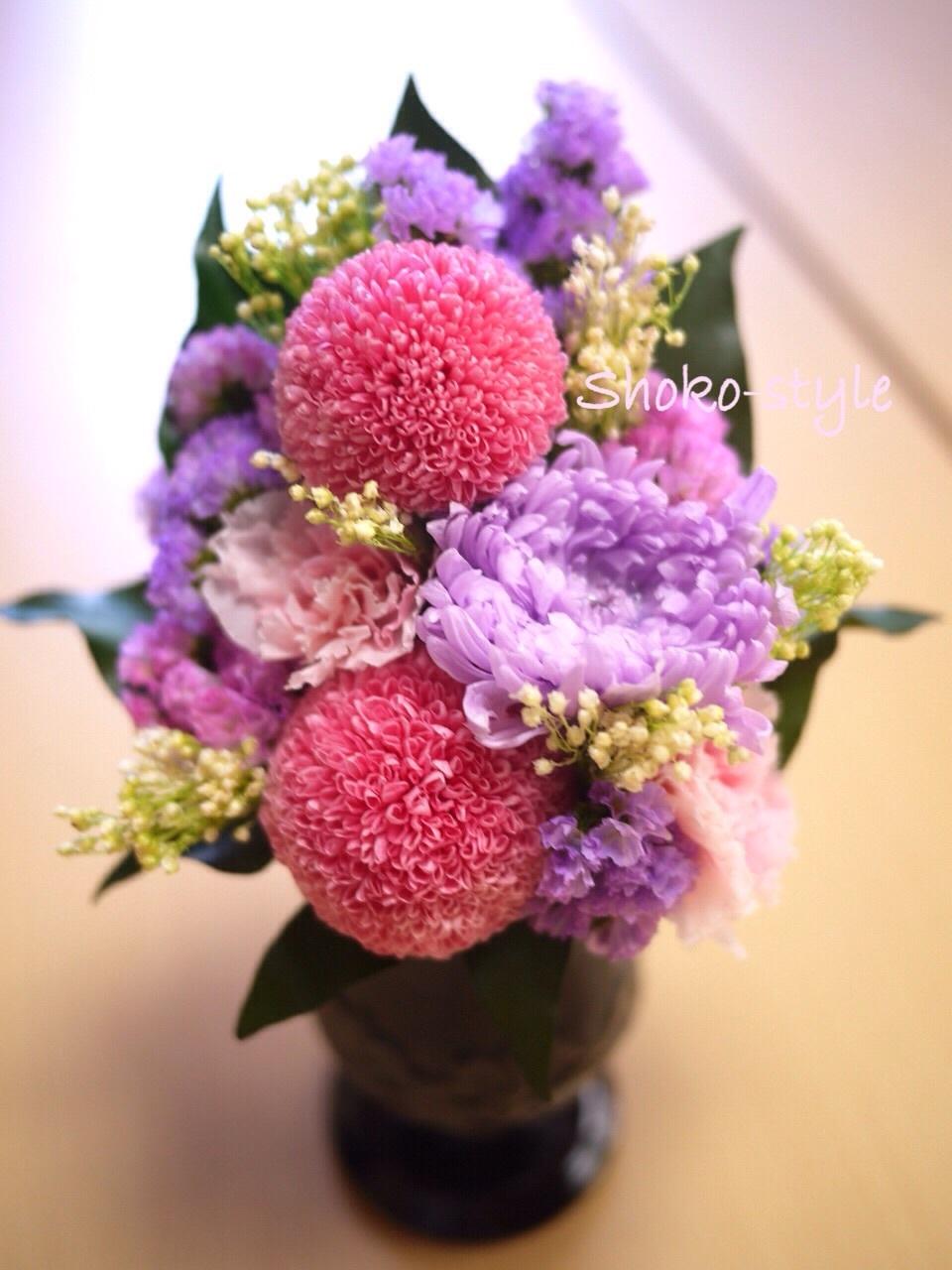 仏花をレッスンで_a0135999_15461174.jpg