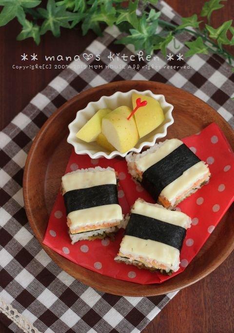 チーズでおめかしライスサンド♪_c0139375_15382982.jpg