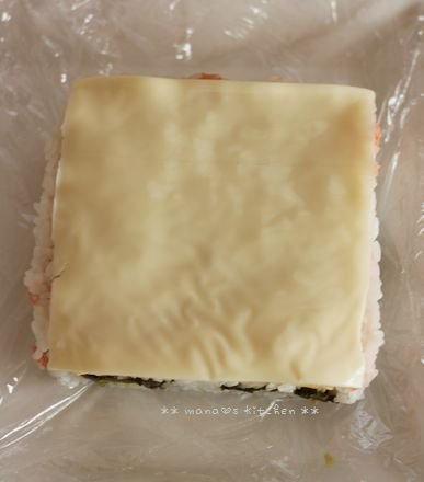 チーズでおめかしライスサンド♪_c0139375_154075.jpg