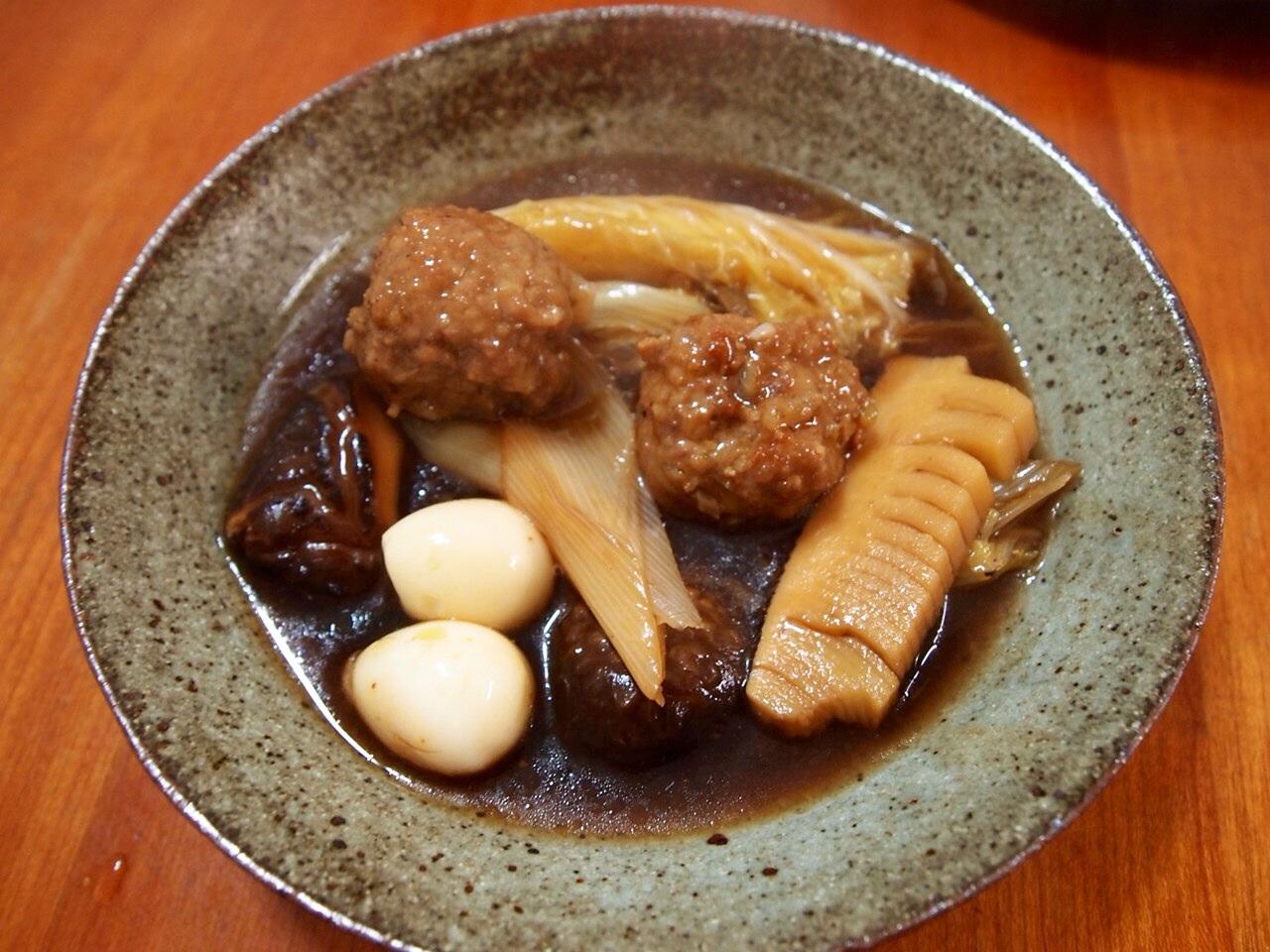 肉だんごと椎茸のウマ煮_a0258686_7424772.jpg