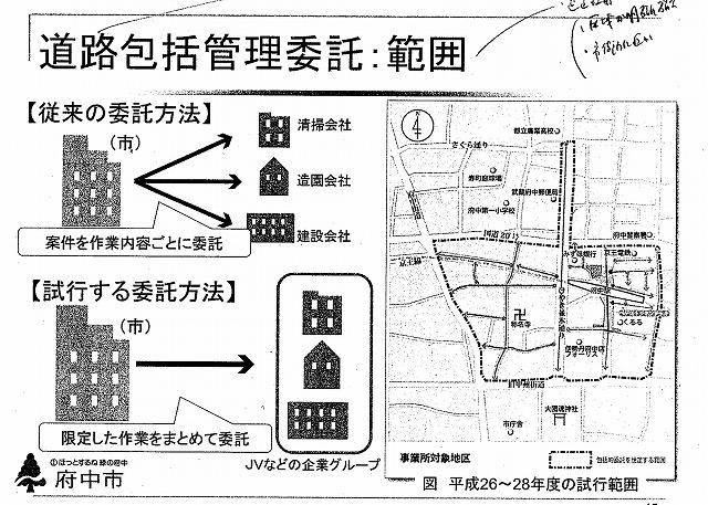 府中市(東京都)の全国初の取組み 道路や並木の点検、補修、清掃、剪定等を「包括管理委託」_f0141310_7483315.jpg