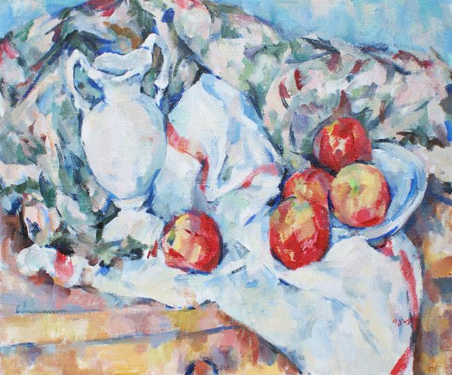 花瓶と五つのリンゴ_c0236929_1304156.jpg