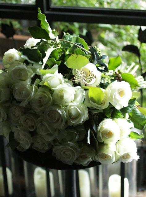 45本の白バラを♡_d0203649_17463512.jpg
