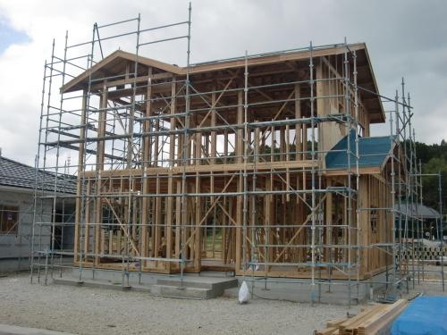 北境15区画、建て方始まりました_e0357165_11525289.jpg