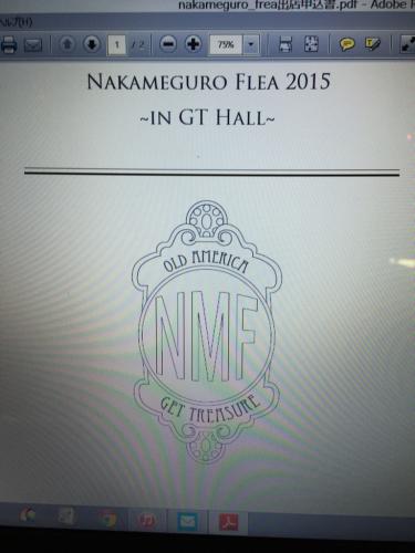 NAKAMEGURO FLEAの為!31日(土曜日)店休日!_b0120103_21324631.jpg