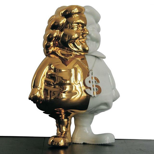 MC Supersized Porcelain Gold by Ron English_e0118156_16262927.jpg