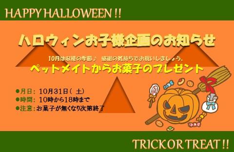 151028 ハロウィン企画&11月1日、3日イベント告知_e0181866_9501145.jpg