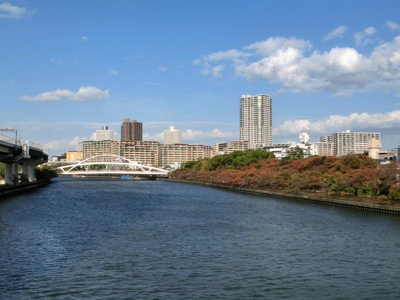 都島橋から飛翔橋を見る : 風景...