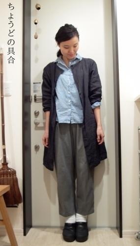 無印良品 割烹着で冷え取りファッション15 10/26_c0342582_18022195.jpg