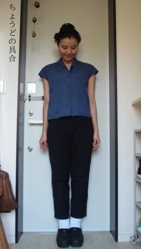 新しい白い靴下で冷え取りファッション15 10/24_c0342582_19161179.jpg
