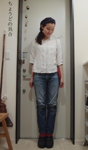 赤い靴下もなかなか冷え取りファッション15 10/22_c0342582_19202293.jpg