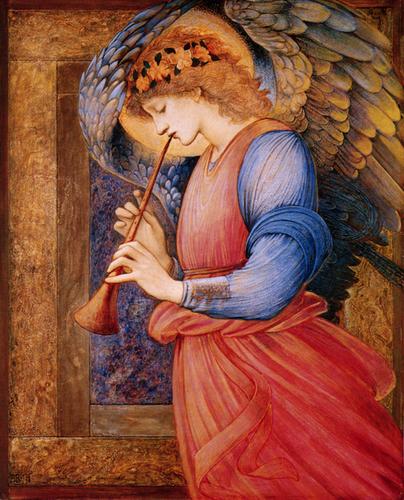 エドワード・バーン=ジョーンズ:Angel playing a flagelot _c0084183_862670.jpg