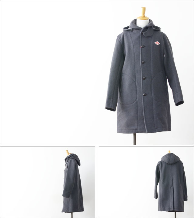 DANTON [ダントン] WOOL MOSSER HOODED COAT  [ JD-8454 ] MEN\'S_f0051306_20425720.jpg