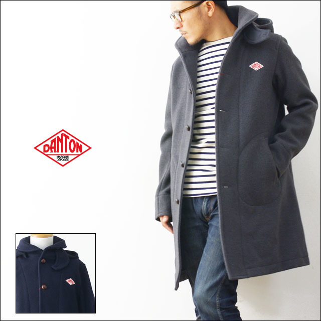 DANTON [ダントン] WOOL MOSSER HOODED COAT  [ JD-8454 ] MEN\'S_f0051306_20425749.jpg