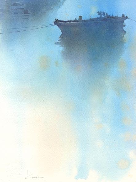 夜明け 水彩画_f0176370_10475140.jpg