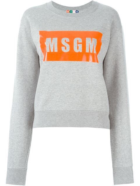 MSGM BOX LOGO SWEAT GREY_f0111683_14360225.jpg