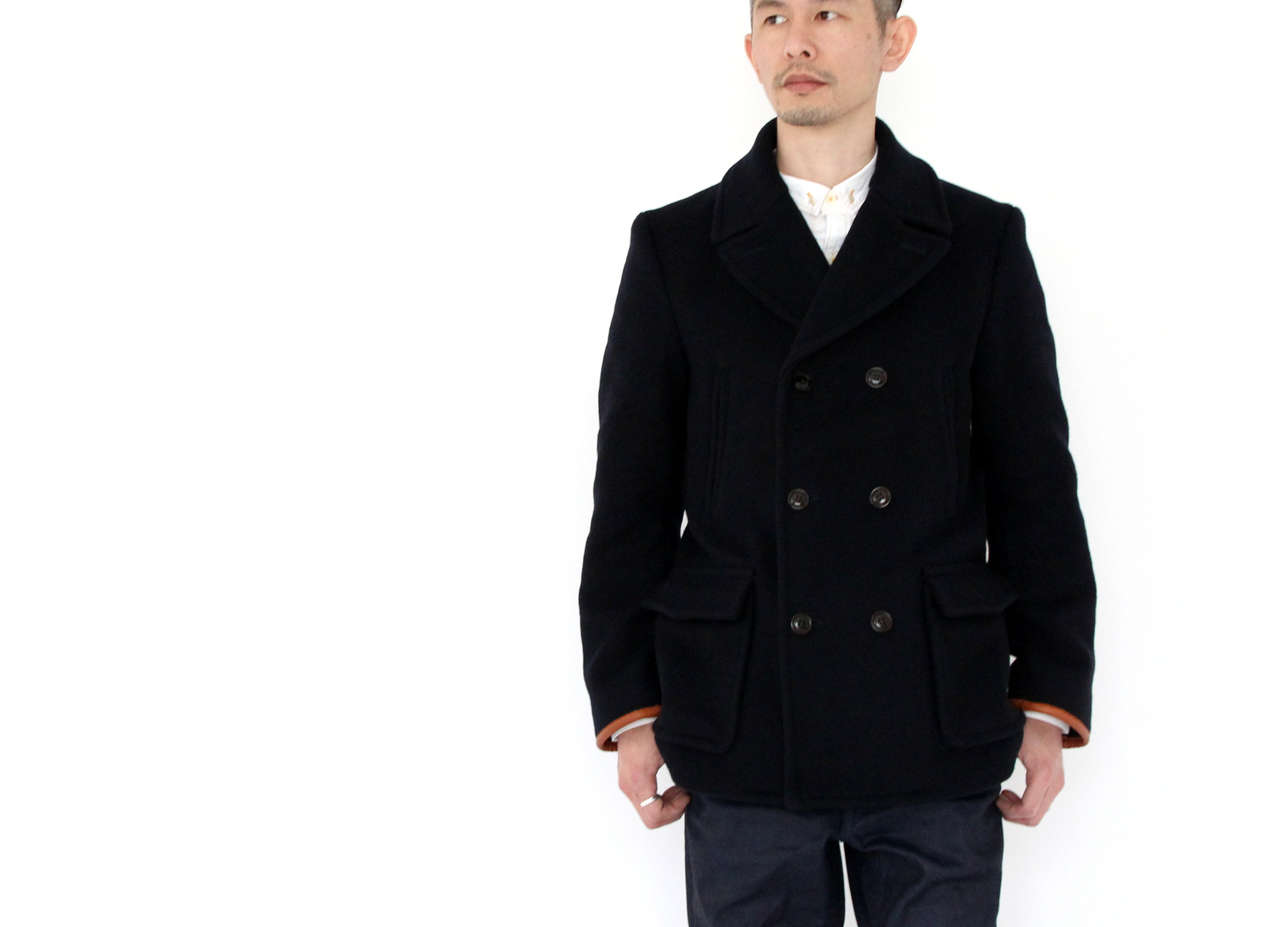 Wool Melton Double P-Coat _e0142928_20574282.jpg