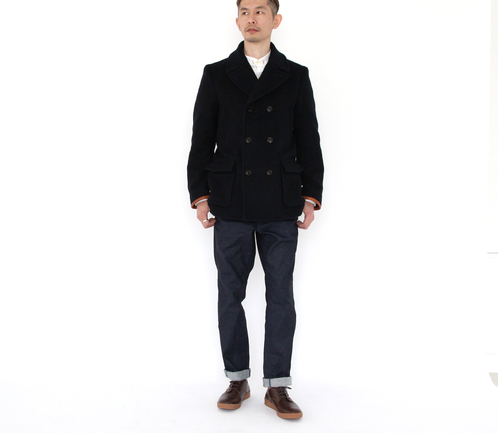 Wool Melton Double P-Coat _e0142928_21635.jpg