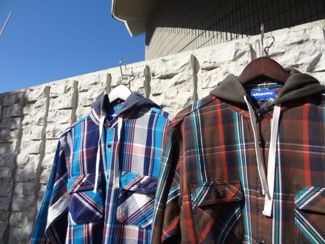 Lafayette THERMAL HOODED NEL SHIRT!!!_a0221253_18443122.jpg