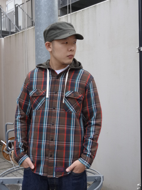 Lafayette THERMAL HOODED NEL SHIRT!!!_a0221253_1855614.jpg