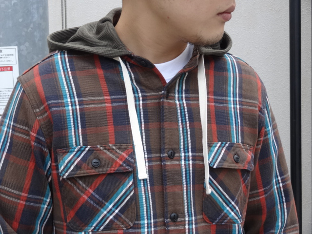 Lafayette THERMAL HOODED NEL SHIRT!!!_a0221253_195836100.jpg