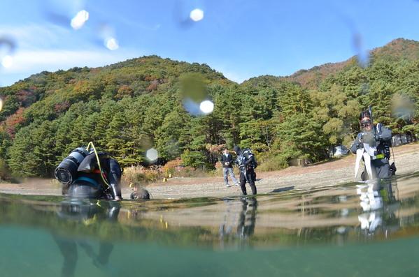 本栖湖ダイビングツアー!韓国チーム!_a0226058_1738298.jpg