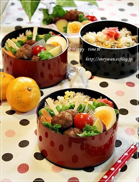 炒飯と肉団子弁当♪_f0348032_18020650.jpg