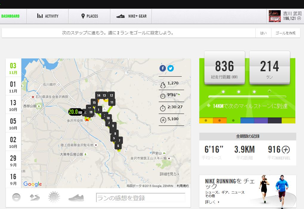 昨日30km走る予定が20kmで心折れてしまいましたー(^^;)_c0110051_1255141.jpg