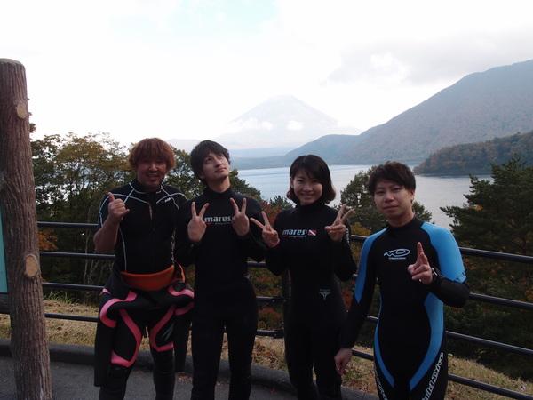 仲良し3人組!本栖湖体験ダイビング!_a0226058_1525180.jpg