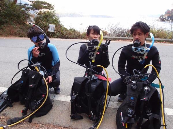 仲良し3人組!本栖湖体験ダイビング!_a0226058_15512379.jpg