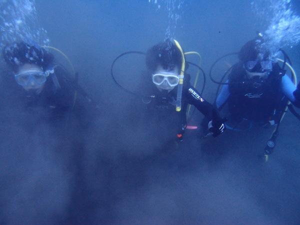 仲良し3人組!本栖湖体験ダイビング!_a0226058_1601382.jpg