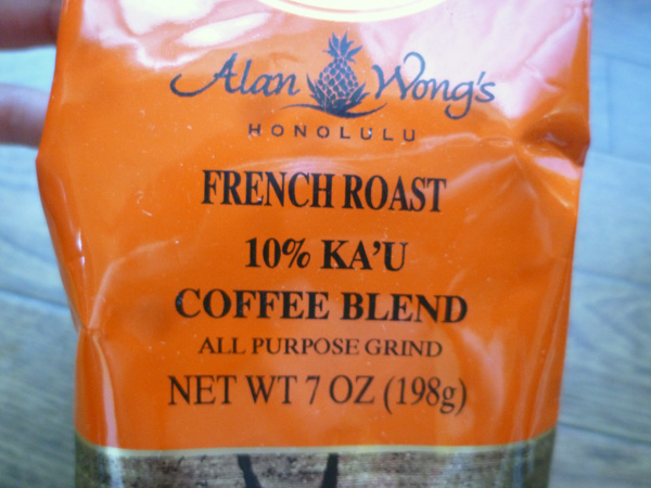 ROYAL KONA COFFEE Royal Hawaiian FRENCH ROAST Chef Alan Wong\'s 10% Kau Coffee Blend 7oz_c0152767_231962.jpg