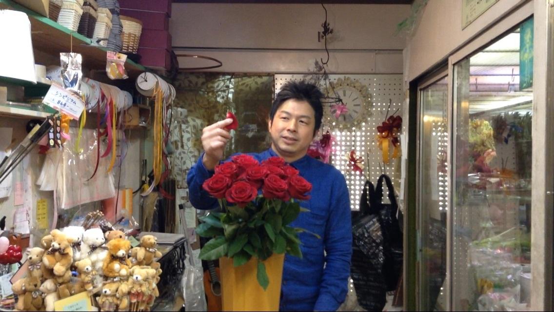 純国産の赤いばらのご説明動画。山形県、安彦園芸の赤いバラ、サムライ。_b0344880_18183472.jpg