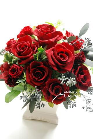贈呈用アレンジ! 真っ赤なバラで!!_a0136507_22554657.jpg