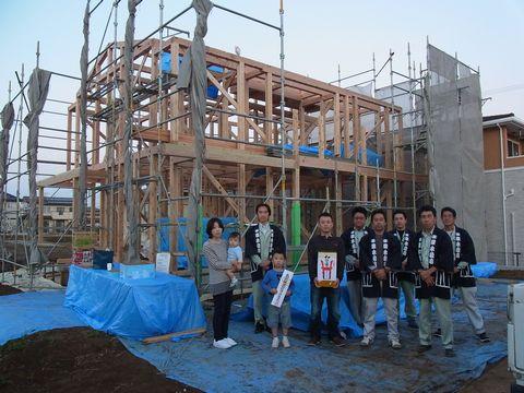 万博記念公園の家が上棟しました。_a0059217_5465322.jpg