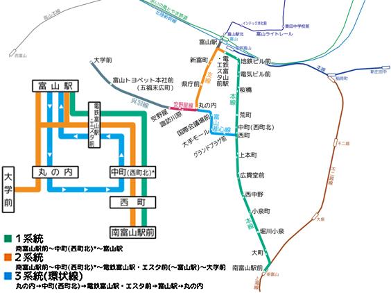 富山と高岡のLRT乗車2「富山路面電車路線」_c0167961_2225515.jpg