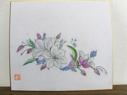 色鉛筆画 ~ ユリ模様 ~_e0222340_15354269.jpg