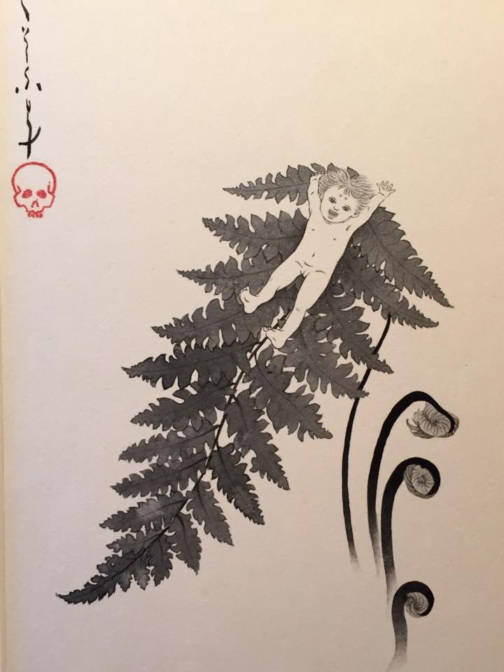 平井千香子×墨 「弦」装画 展 _b0151262_21203189.jpg