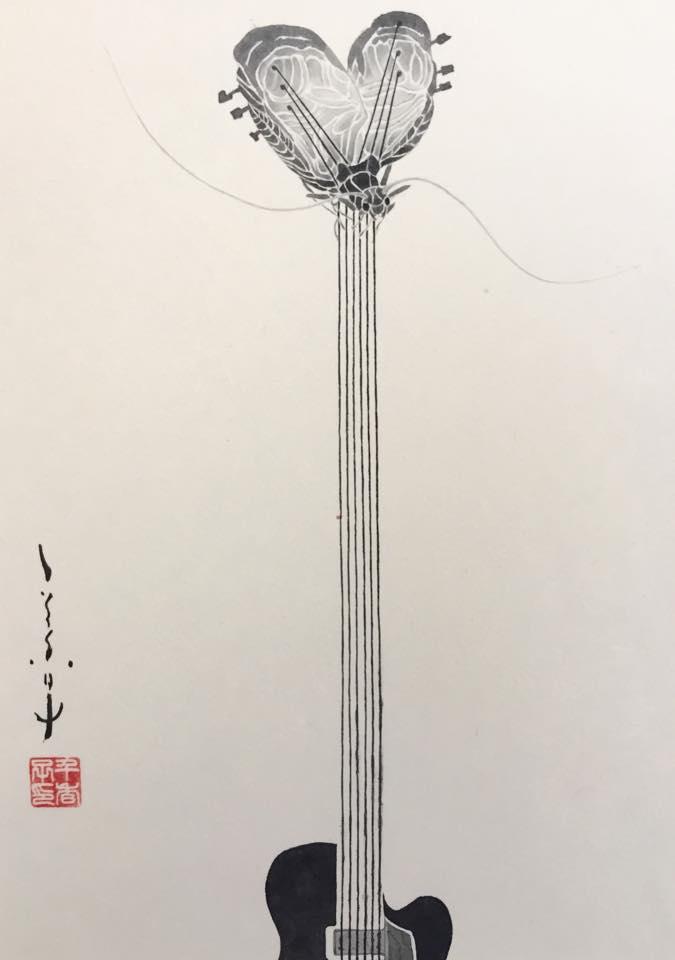 平井千香子×墨 「弦」装画 展 _b0151262_21203821.jpg