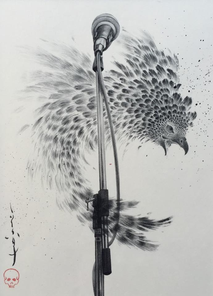 平井千香子×墨 「弦」装画 展 _b0151262_21204696.jpg