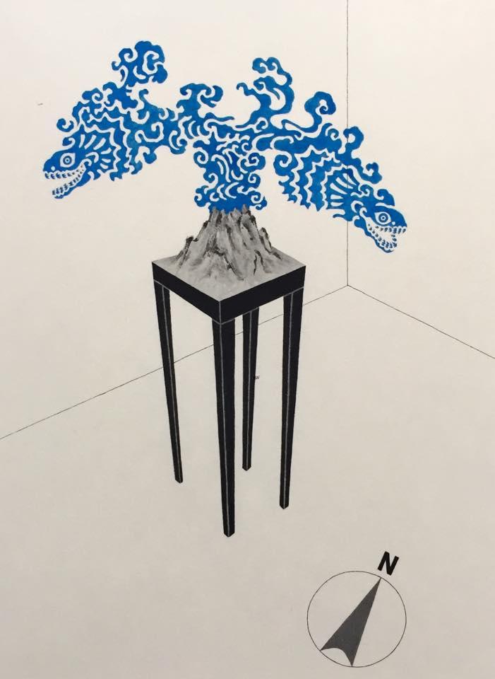 平井千香子×墨 「弦」装画 展 _b0151262_21211183.jpg