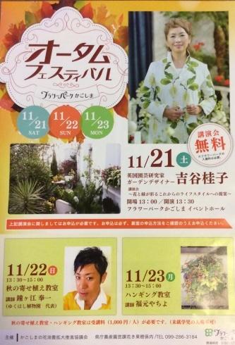 ニュースです🍀・・鹿児島に吉谷桂子先生がお見えになりますよ_b0137969_05221010.jpg