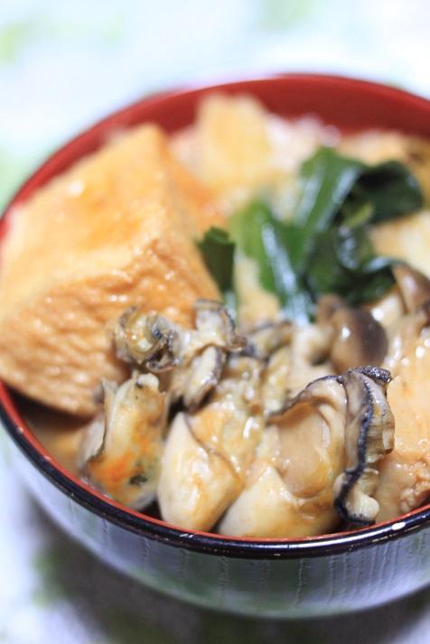 モランボン PREMIUM キムチチゲでレシピ「牡蠣キムチ鍋」♪_a0154192_2013614.jpg