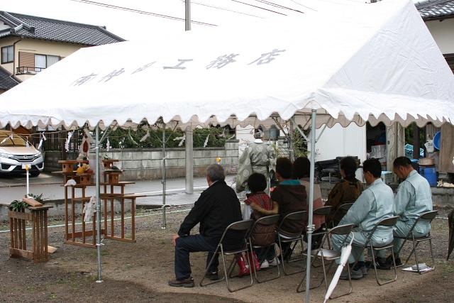 北新田の家 地鎮祭_e0145995_2136417.jpg