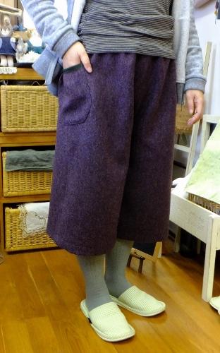 秋冬のガウチョパンツ 紫編_c0115596_22411331.jpg