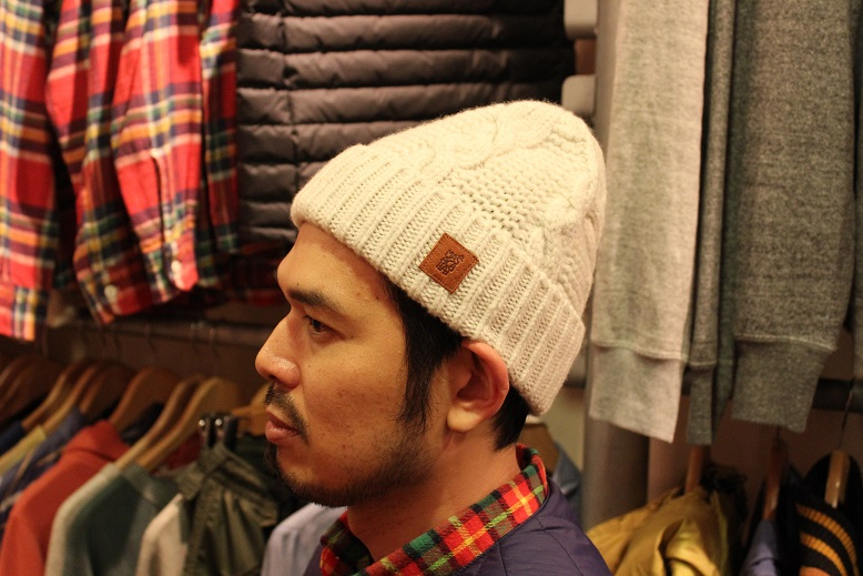 "MASACA HAT ""WOOL CABLE KNIT CAP\"" ご紹介_f0191324_9265353.jpg"