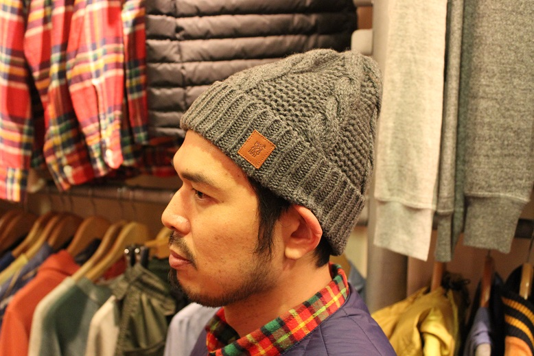 "MASACA HAT ""WOOL CABLE KNIT CAP\"" ご紹介_f0191324_9272580.jpg"