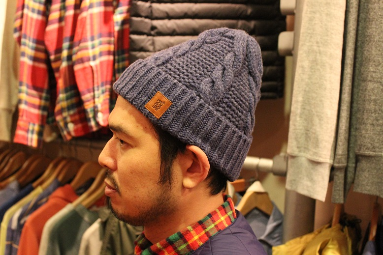 "MASACA HAT ""WOOL CABLE KNIT CAP\"" ご紹介_f0191324_9275562.jpg"