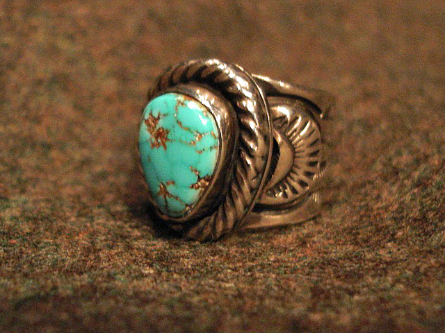 """NEW : [Navajo Turquoise Jewelry] """"NUNMER 8"""" & """"LONE MOUNTAIN"""" SILVER RING !!_a0132147_19383028.jpg"""