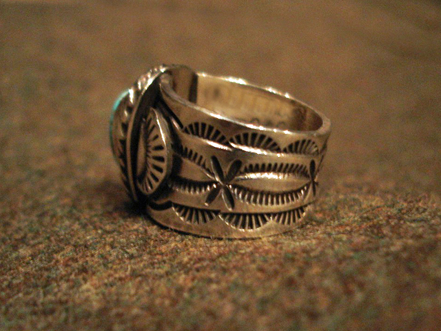 """NEW : [Navajo Turquoise Jewelry] """"NUNMER 8"""" & """"LONE MOUNTAIN"""" SILVER RING !!_a0132147_19383719.jpg"""